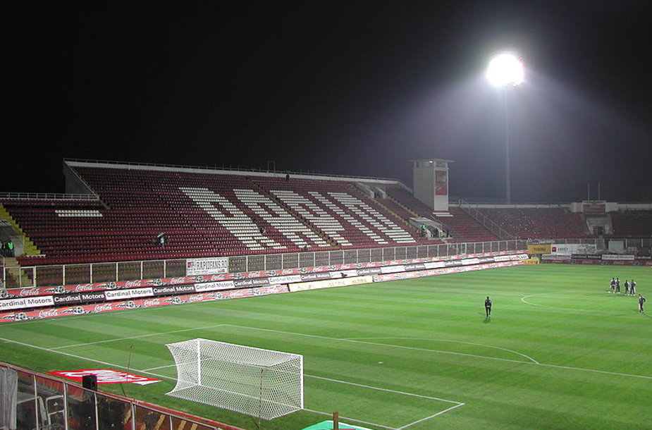 "Bucharesto ""Rapid"" ekipos stadionas."