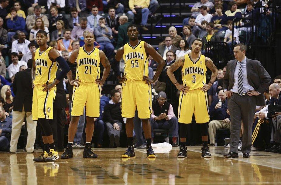 """""""Indiana Pacers"""" komandos žaidėjai"""