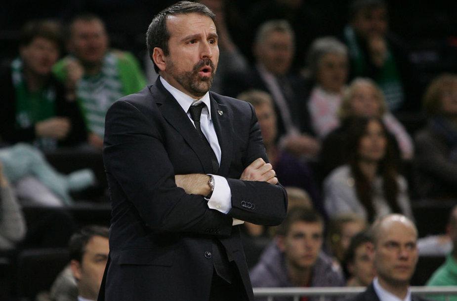 """Kauno """"Žalgirio"""" komandos treneris Joanas Plaza"""