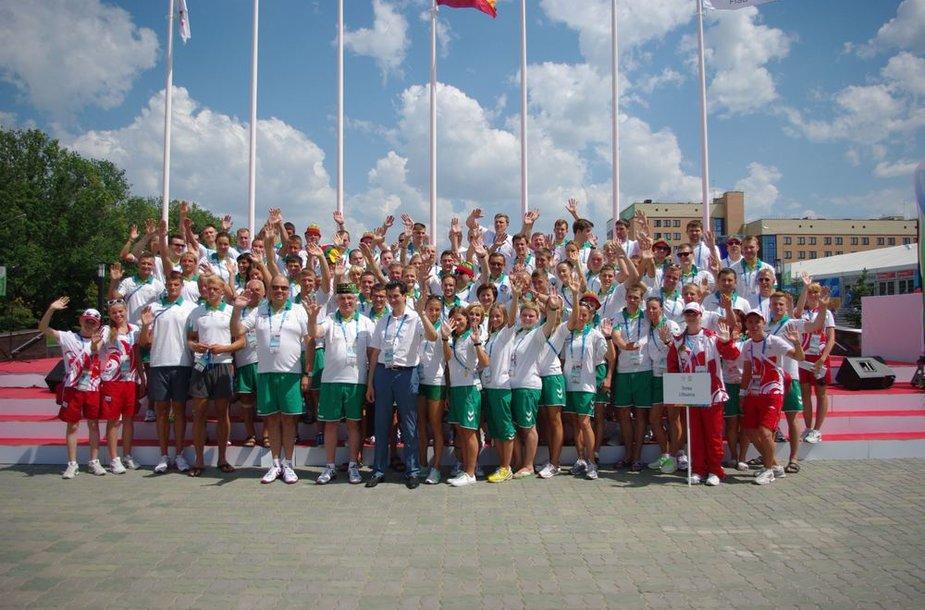 Lietuvos studentų sporto delegacija Universiadoje Kazanėje