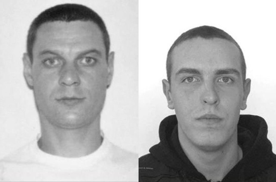 Sulaikyti ieškomi asmenys: A.K. (kairėje) ir V.A. (dešinėje)