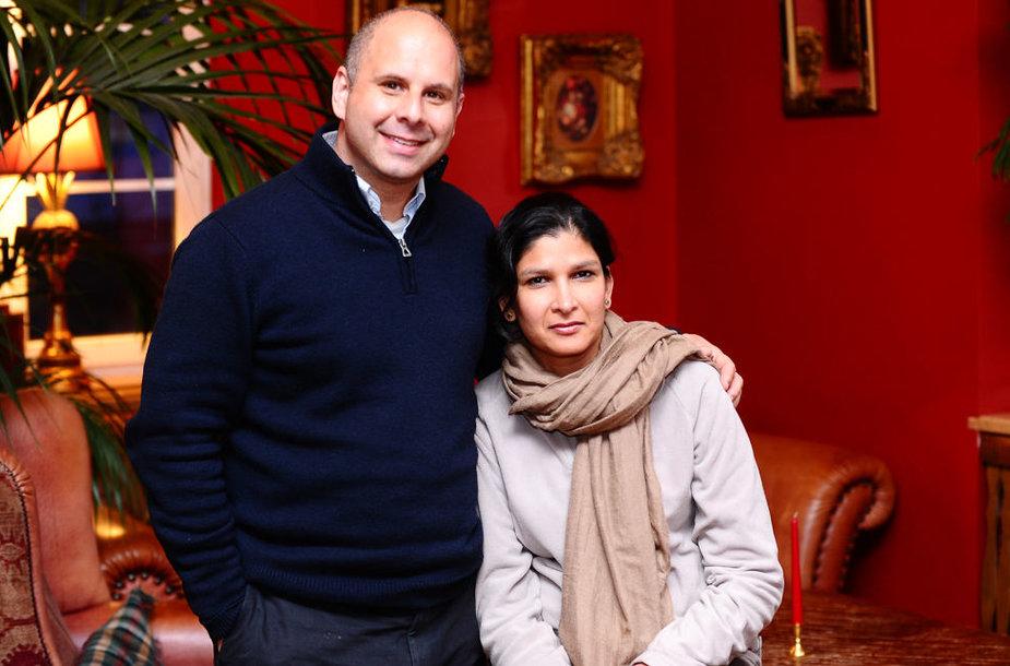 Tahiras Shah su žmona Rachana