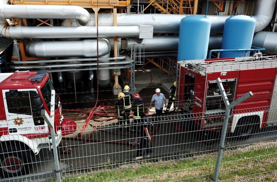Klaipėdoje degė biokuro sandėlys