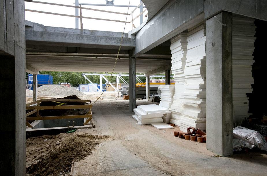Ekskursija po Lazdynų daugiafunkcio sveikatinimo centro statybų aikštelę