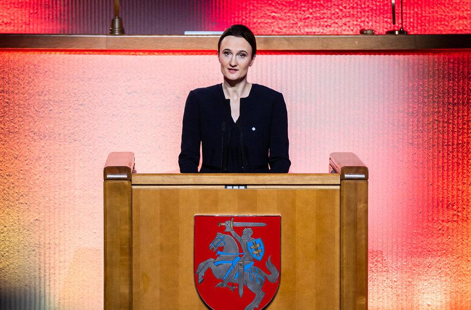 Seimo pirmininkė Viktorija Čmilytė