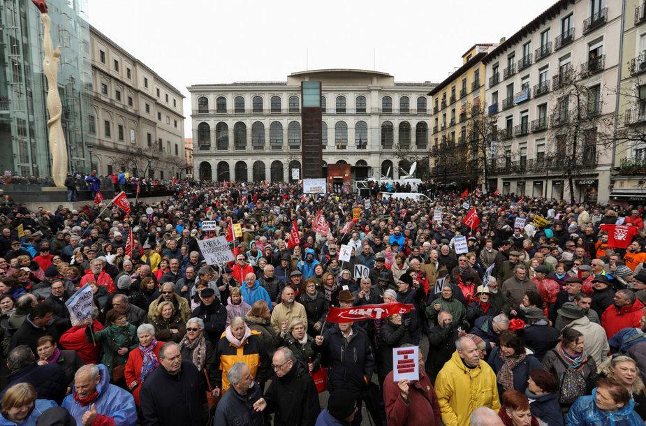 Ispanijos pensininkai reikalauja adekvačiai didinti pensijas