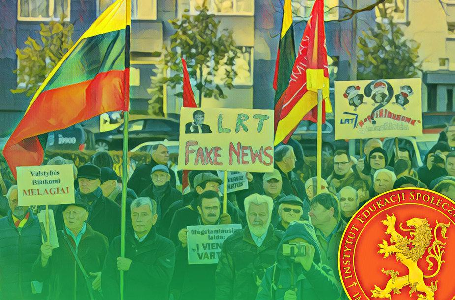 Viena iš organizacijų, rengusių protestą prieš LRT, finansuojama Lenkijos valdžiai artimos struktūros
