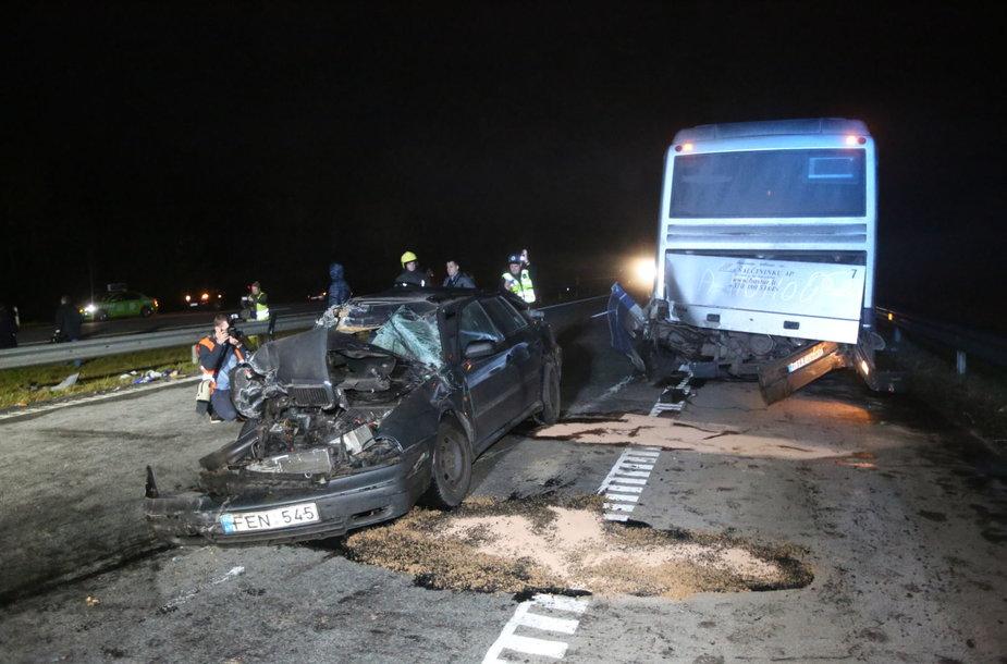 Masinė avarija kelyje Vilnius-Panevėžys
