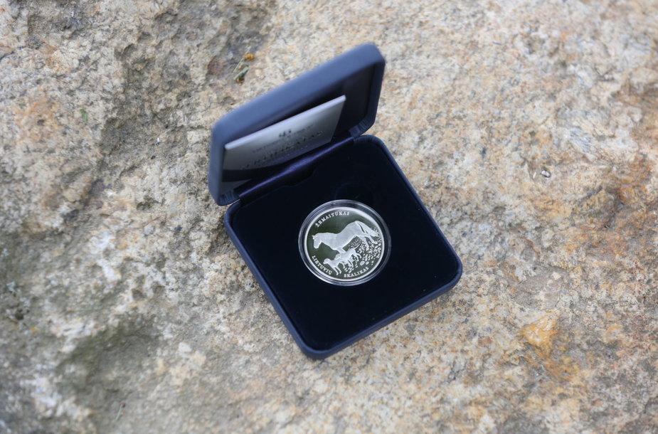 Naujų monetų pristatymas Vilniaus žirgyne