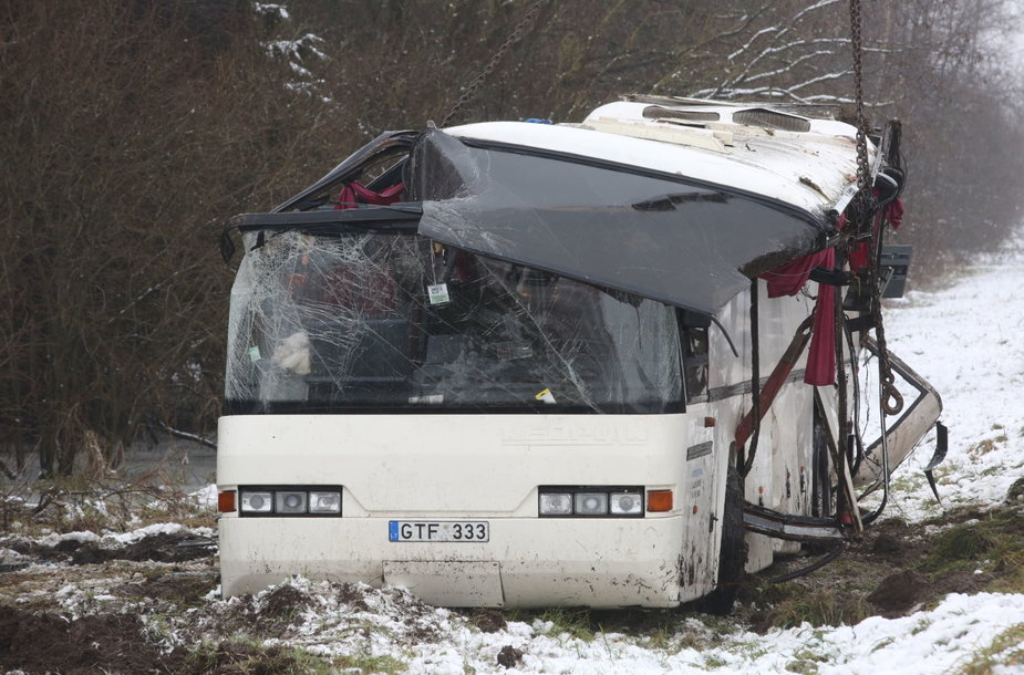 Autobuso avarija šalia Deltuvos