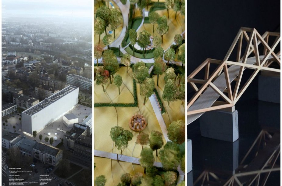 S.Eidrigevičiaus menų centro projektas, Reformatų skvero planas ir pėsčiųjų tiltas Kėdainiuose