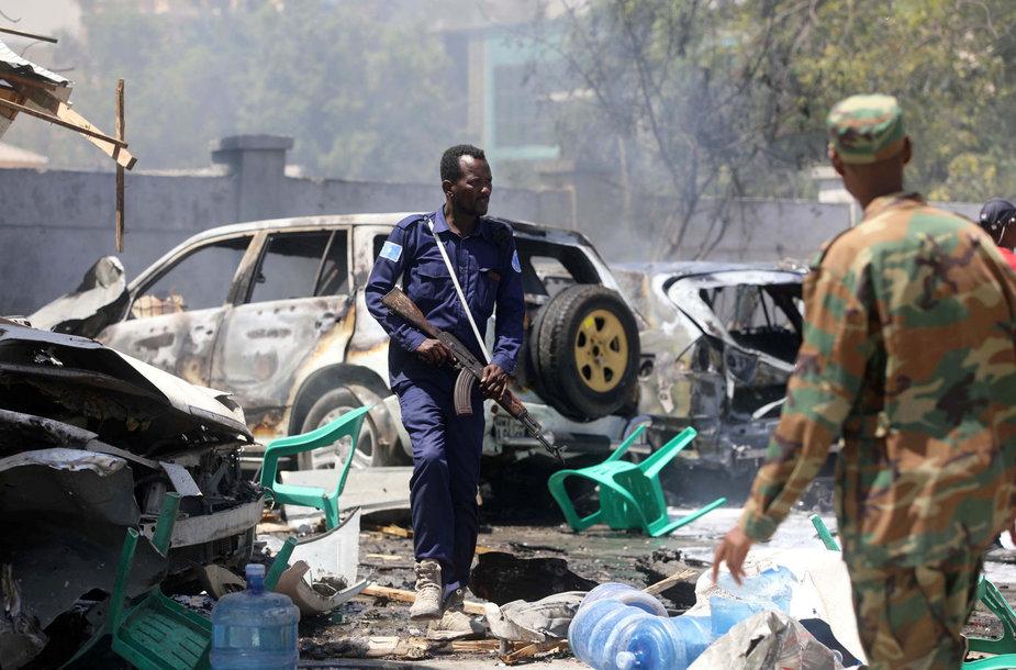 Sprogimas Somalio sostinės turguje