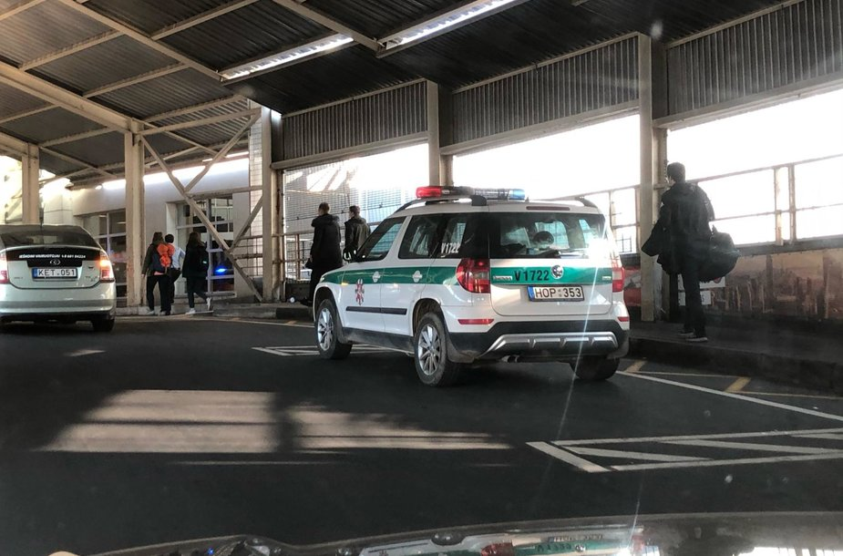 Vilniaus oro uosto išvykimo terminalo evakuacija