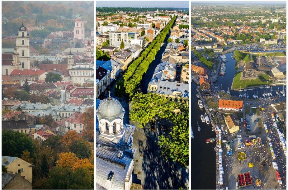 Vilnius, Kaunas ir Klaipėda