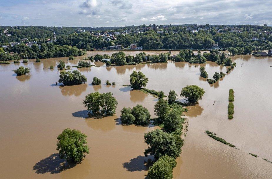 Vokietiją nusiaubė potvynis