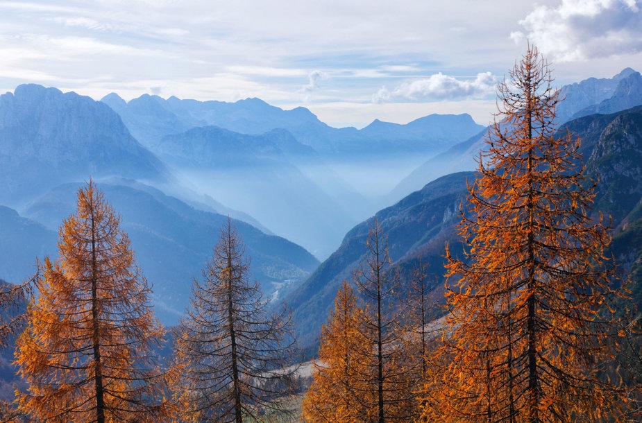 Rūke paskendę Slovėnijos slėniai