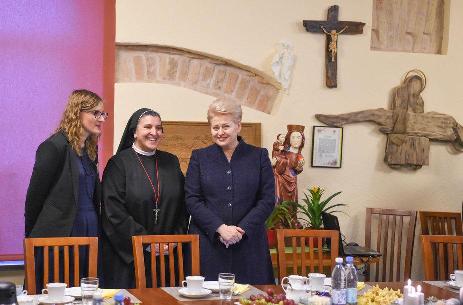 Prezidentė lankėsi Vilniaus pal. kun. Mykolo Sopočkos hospise
