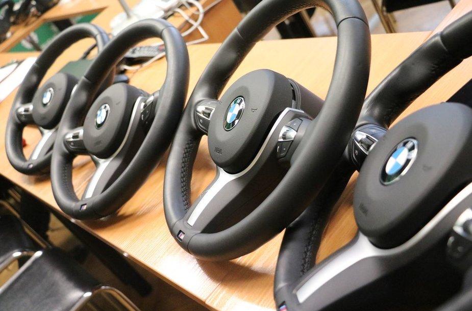 Vogtos BMW detalės