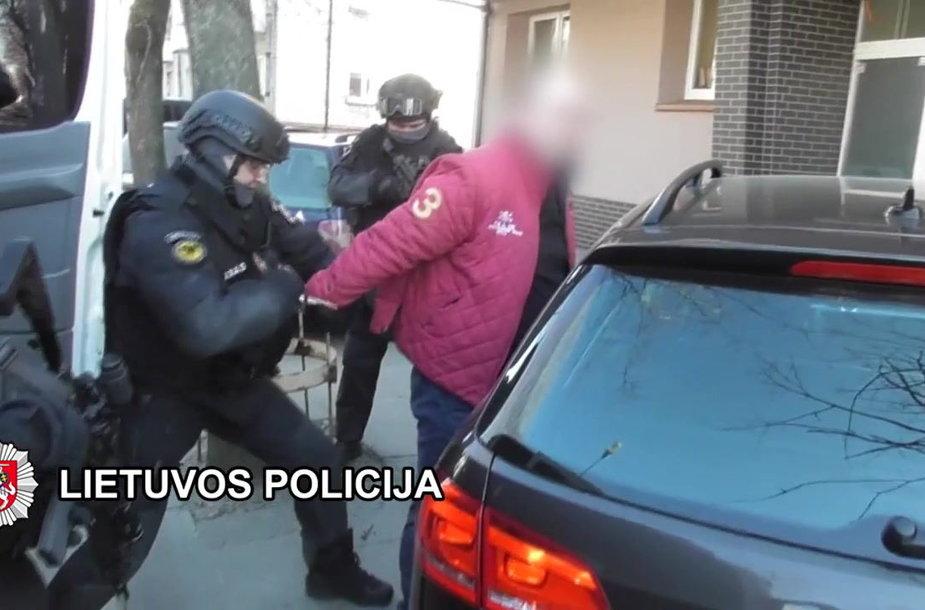 Neteisėtai informaciją apie pareigūnus rinkusio vyro sulaikymas Klaipėdoje
