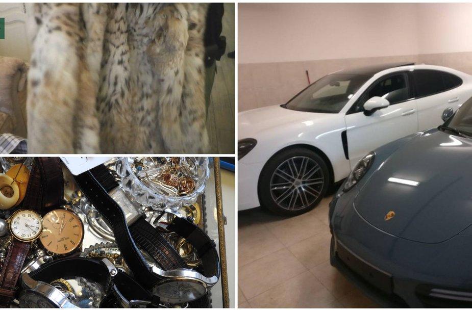 Kamuolinių turtai: prabangūs automobiliai, dešimčių tūkstančių verti laikrodžiai ir Pugačiovos kailiniai