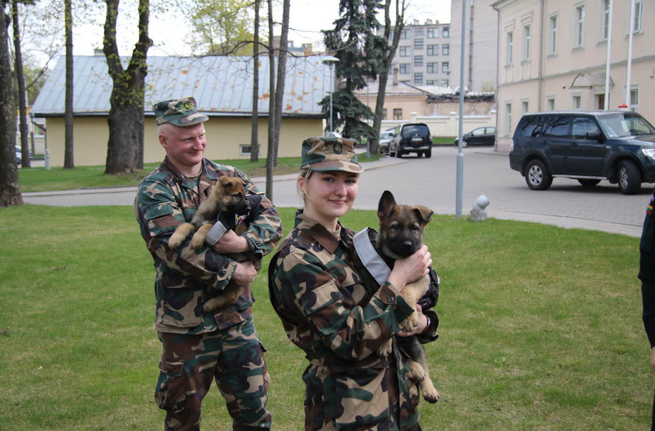 Tarnybą pasienyje pradeda vokiečių aviganiai Bleidas ir Perla