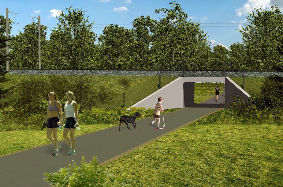 Saugiam eismui užtikrinti bus įrengtos naujos požeminės pėsčiųjų perėjos po geležinkeliu