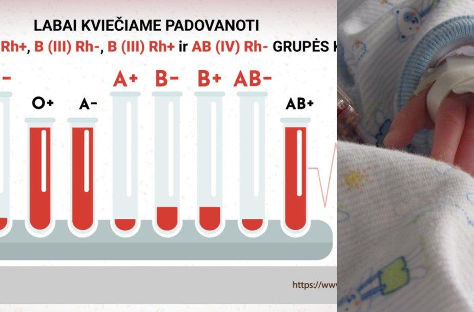 Nacionaliniame kraujo centre ištuštėjo kraujo atsargos