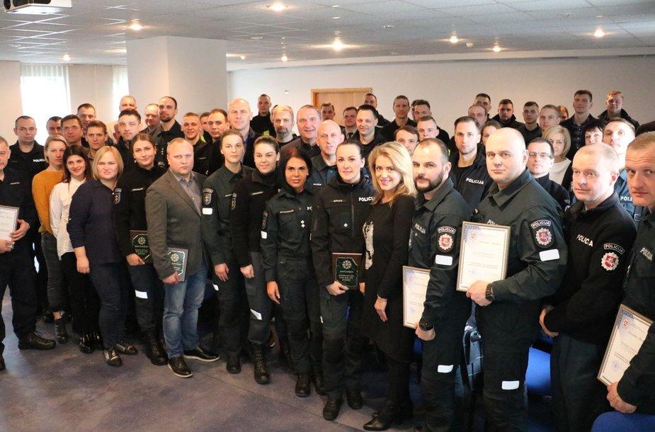 Apdovanoti geriausi Kauno apskrities policijos sportininkai
