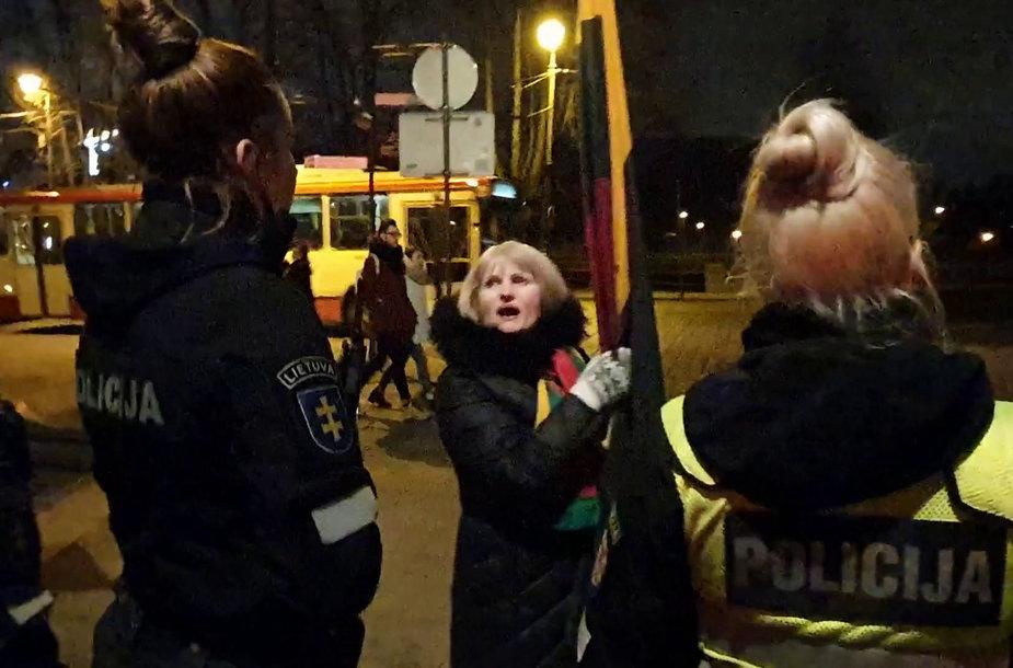 Konfliktas Vilniaus Trispalvės alėjoje