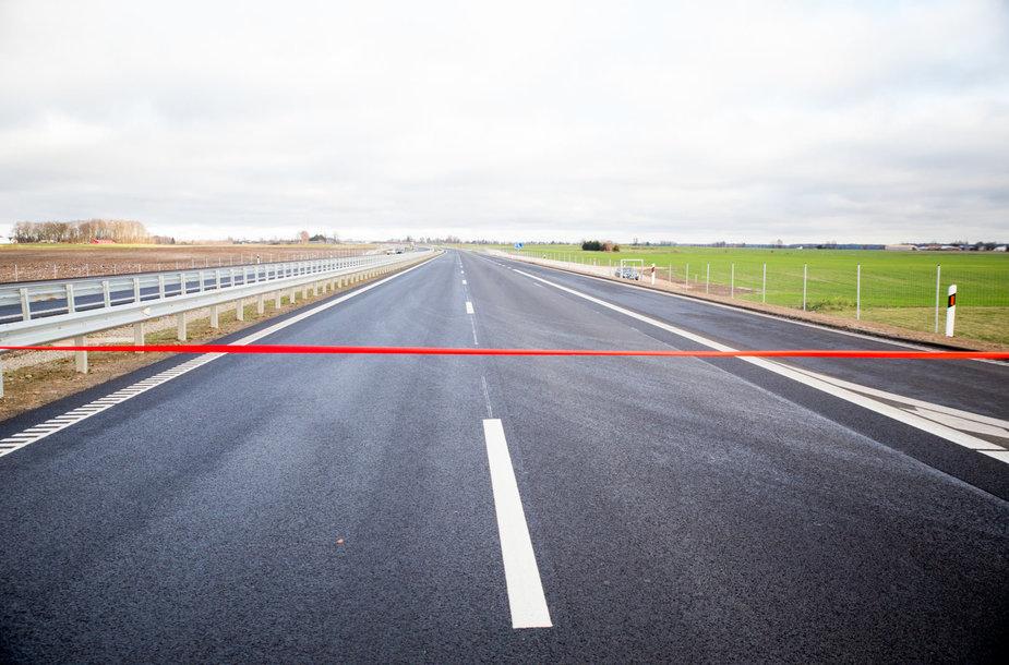 """Keturių eismo juostų automagistralės """"Via Baltica"""" atidarymas"""