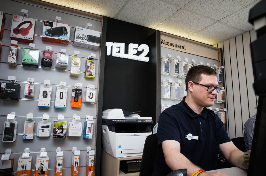 Tele2 salonas naujose patalpose