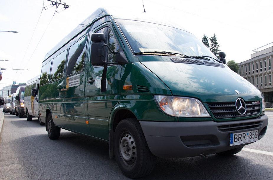 Mitingas dėl Vilniaus viešojo transporto pertvarkos