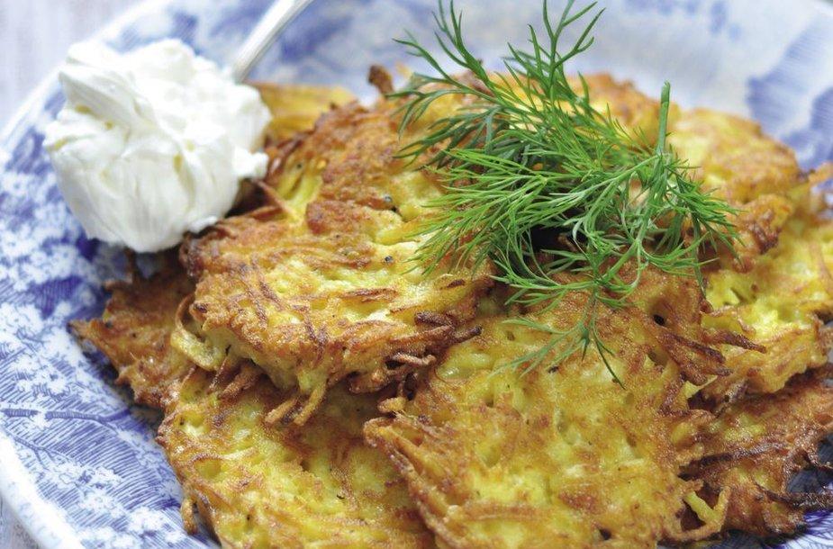 Bulviniai blynai su vištiena