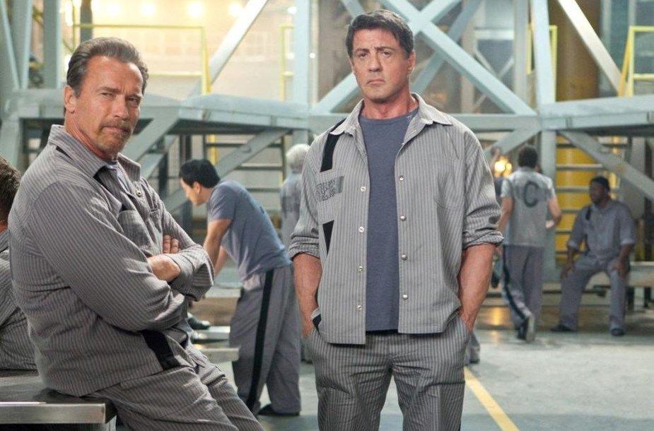Sylvesteris Stallone ir Arnoldas Schwarzeneggeris