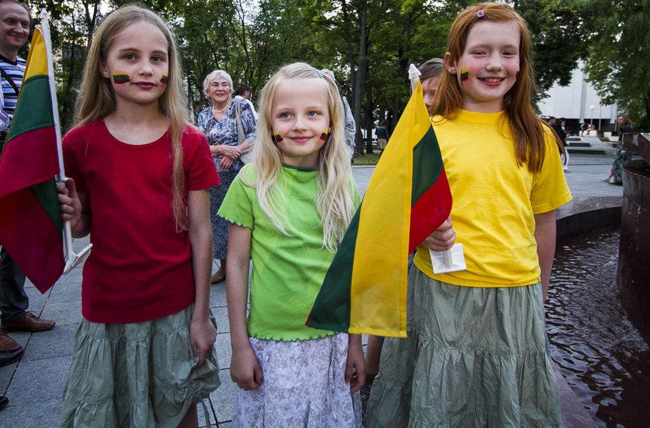 Kudirkos aikštėje skambėjo Lietuvos himnas