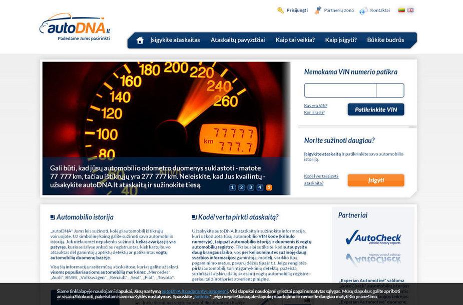 Lietuviškos interneto svetainės titulinis puslapis