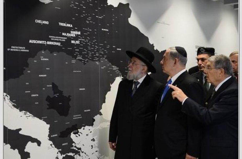 Benjaminas Netanyahu atidarė Holokausto ekspoziciją Aušvice