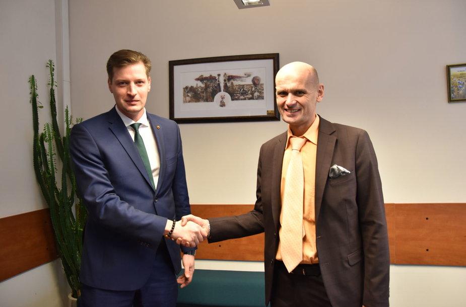 Dr. Kęstutis Mažeika ir dr. Gintautas Labanauskas