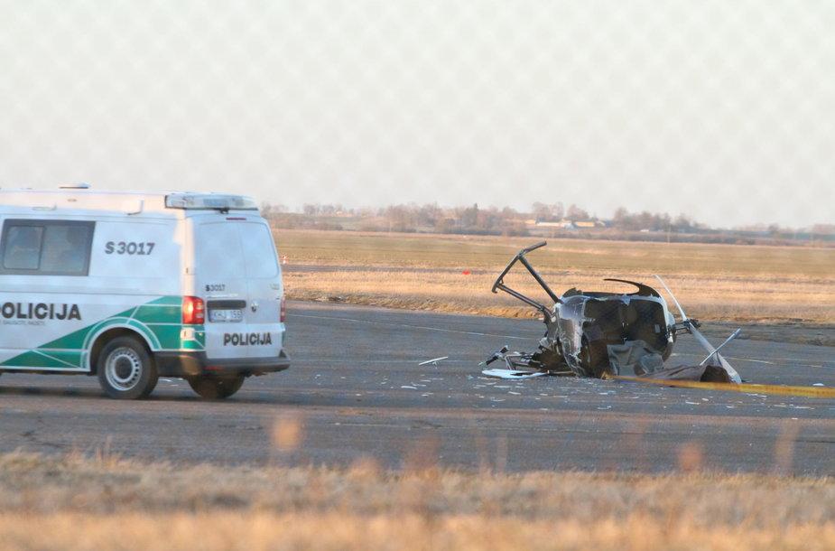 Barysių oro uoste nukrito sraigtasparnis