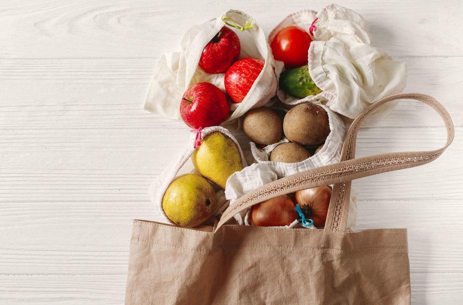 Daržovės ekologiškuose maišeliuose