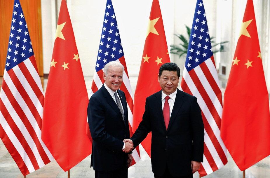 Joe Bidenas ir Xi Jinpingas
