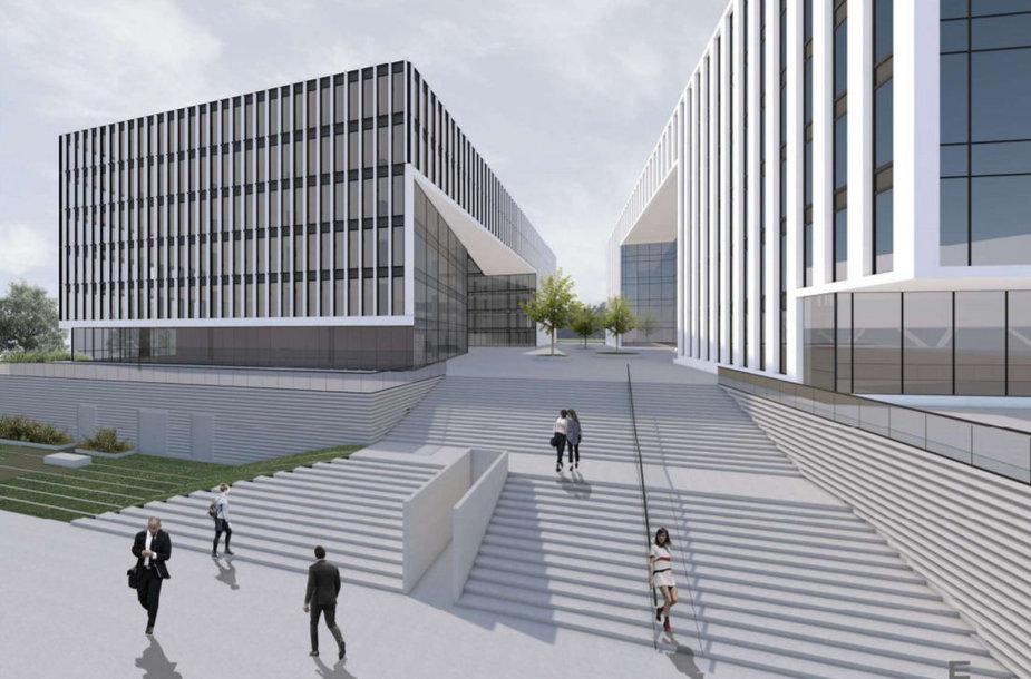 """""""M.M.M. projektai"""" Saltoniškių gatvėje suplanavo 4-tą biurų pastatą"""