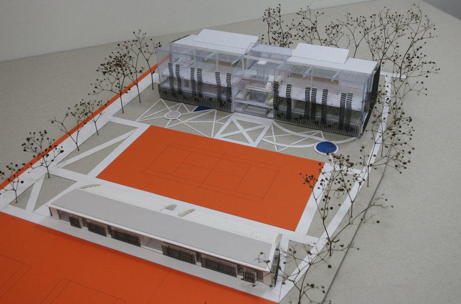 Klaipėdos architektų taryba įvertino pastato su teniso kortais projektą