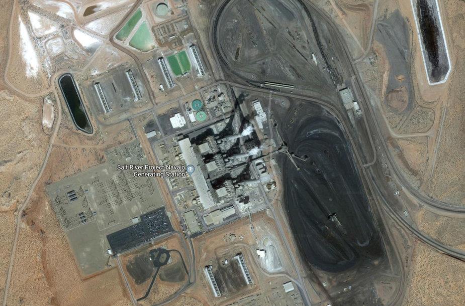 Milžiniška anglimi kūrenama elektrinė JAV