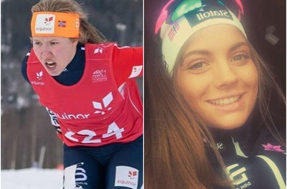 Helene Marie Fossesholm (kairėje) ir Kristine Stavas Skistad reikėjo augimo hormonų ankstyvoje paauglystėje.