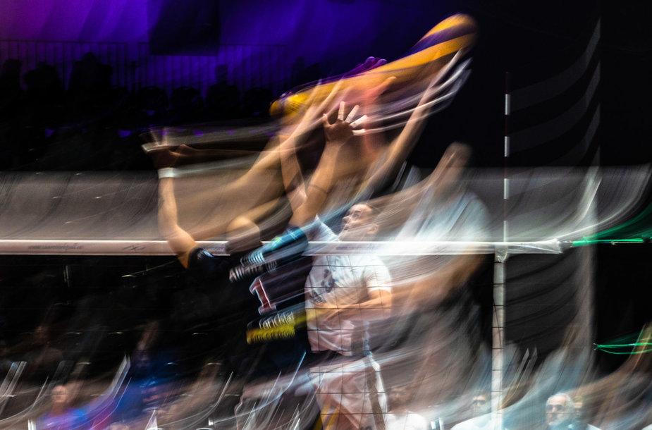"""Saaremaa VK"" ir ""Power Volley Milano"" rungtynės Estijoje."