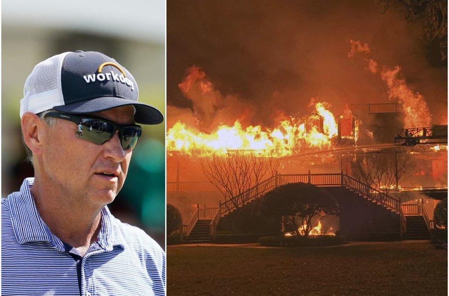 Daviso Love'o III namai sudegė.