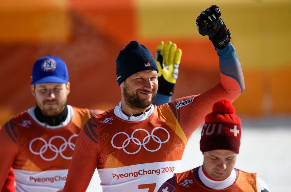 Norvegas Akselis Lundas Svindalis tapo olimpiniu čempionu greitojo slalomo rungtyje.