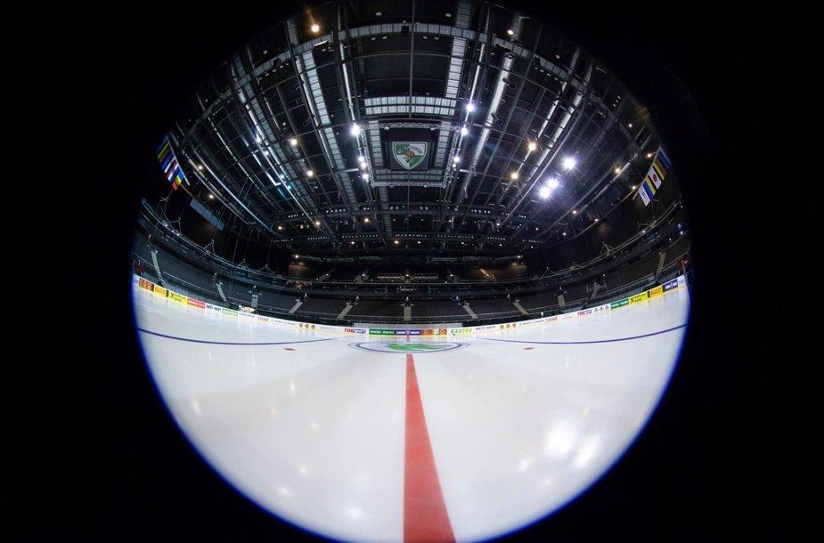 """Kauno """"Žalgirio"""" arena parengta ledo ritulio turnyrui."""