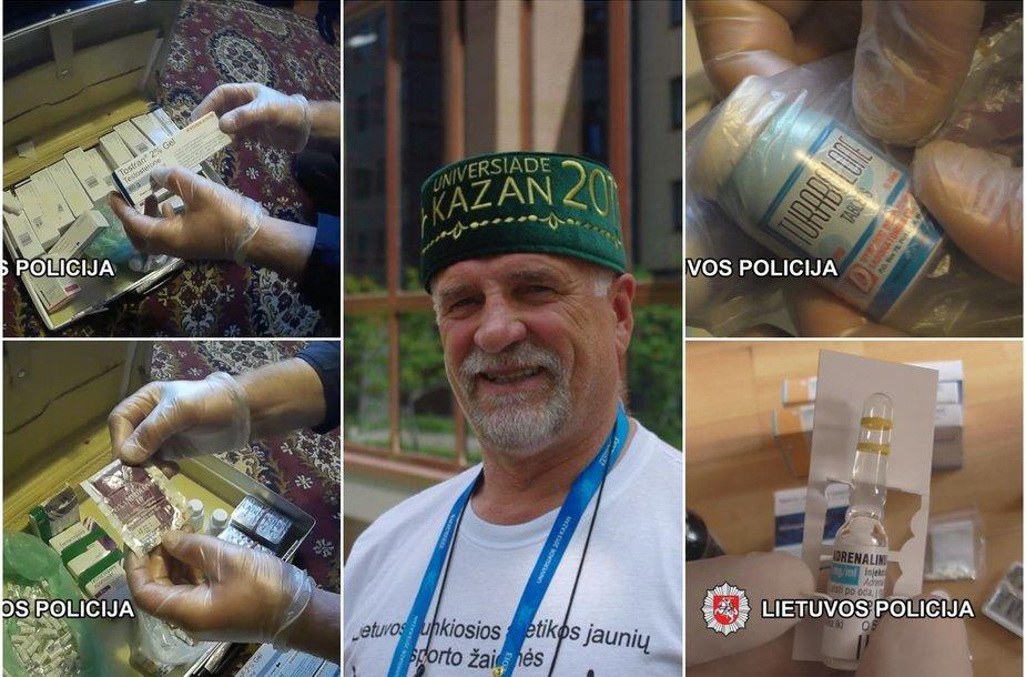 Per kratą policijos pareigūnai rado uždraustų olimpiečiams medžiagų.